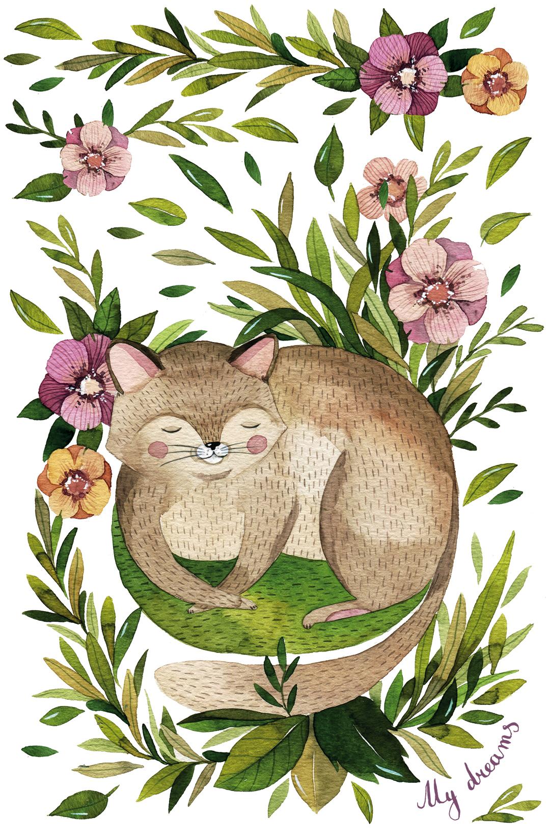 My dreams. Котик. Романтичный блокнот от Vicky_Od