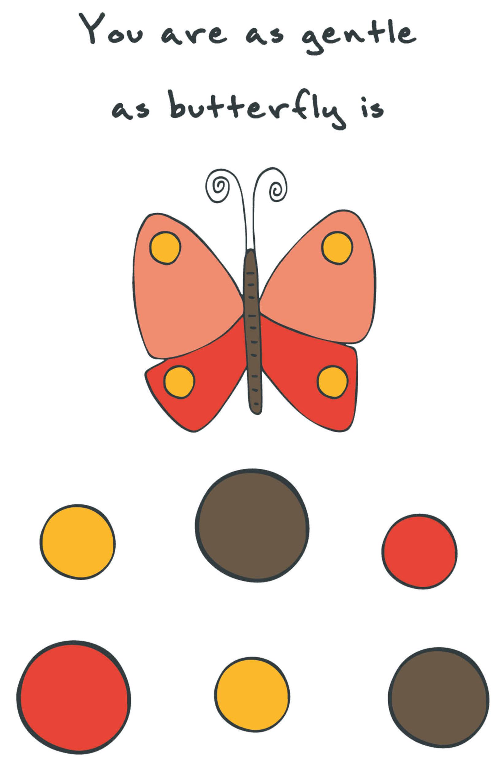 Блокнот для записей You are as gentle as butterfly is (А5)
