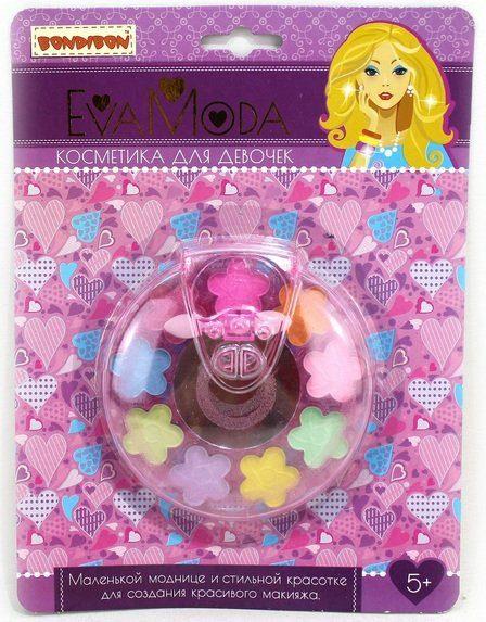 ВВ1777 Набор детской декорат. косметики Bondibon Eva Moda, CRD 17,2х23 см, диск с тенями для век (9