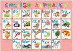 Алфавит английский.Настольное детское издание(Учимся писать буквы) с комплектом маркеров.