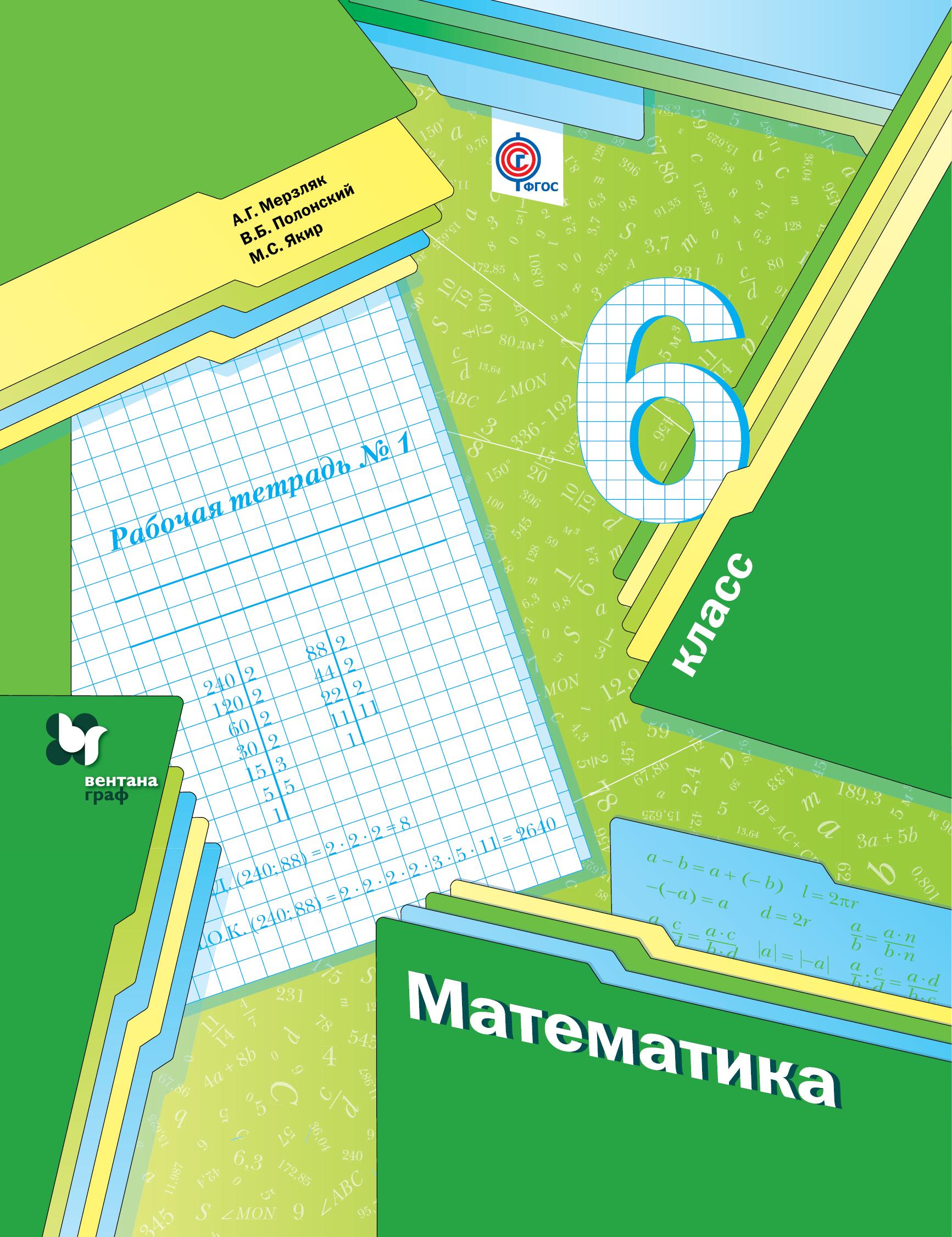 *Математика. 6 класс. Рабочая тетрадь №1