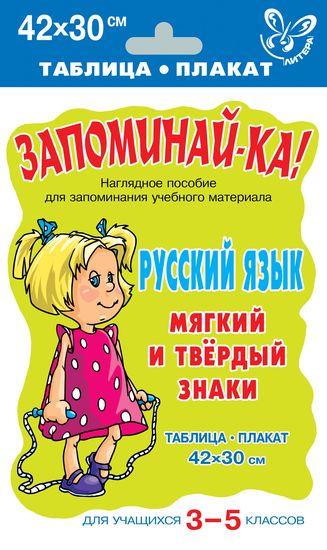 Русский язык. Мягкий и твёрдый знаки.Для 3-5 кл.