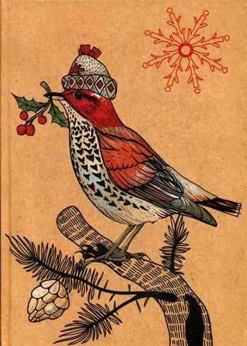 Блокнот Птичка с ягодкой.