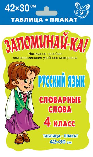 Русский язык. Словарные слова 4 класс
