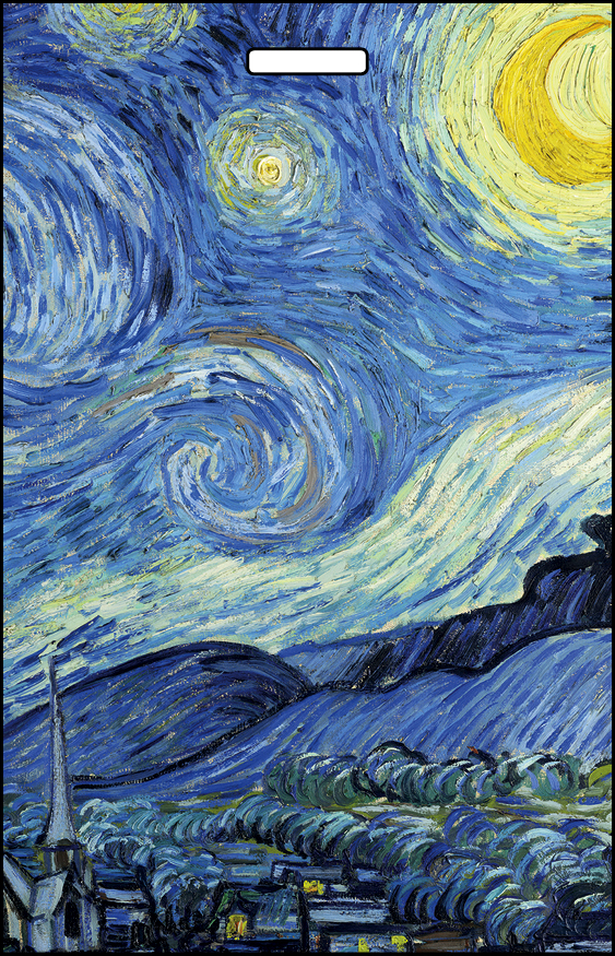 Кардхолдер. Винсент Ван Гог Звездная ночь (в форме книжки, 215х65 мм)