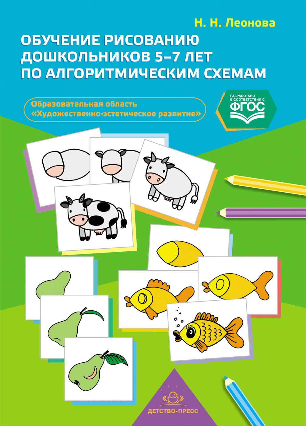 Обучение рисованию дошкольников 5-7 лет по алгоритмическим схемам (образовательная область Художественно-эстетическое развитие): наглядно-дидактическое пособие. ФГОС.